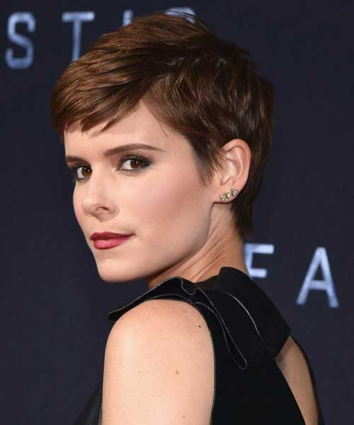 Cute Pixie Cut Brown Hair
