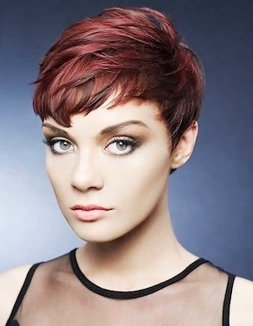 Nice Red Pixie Cut Hair Colors