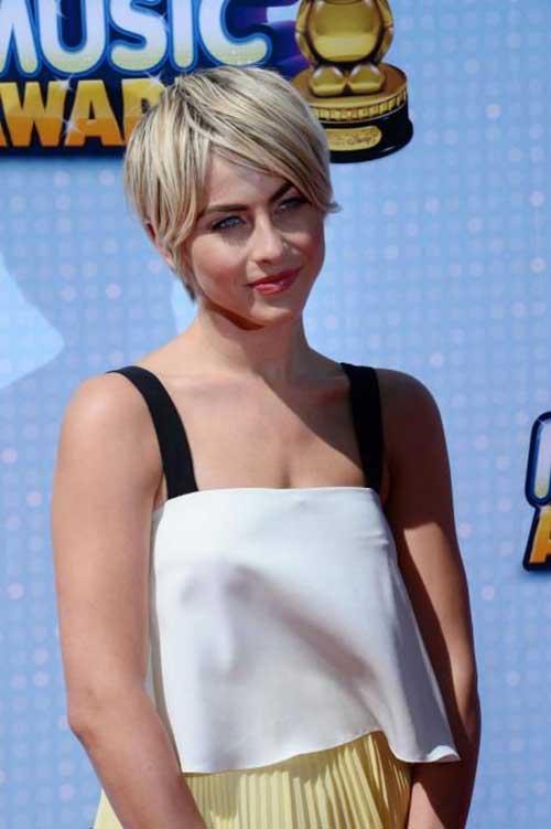 Straight Hair Blonde Pixie Cuts