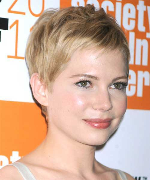 Straight Layered Pixie Cuts for Round Faces