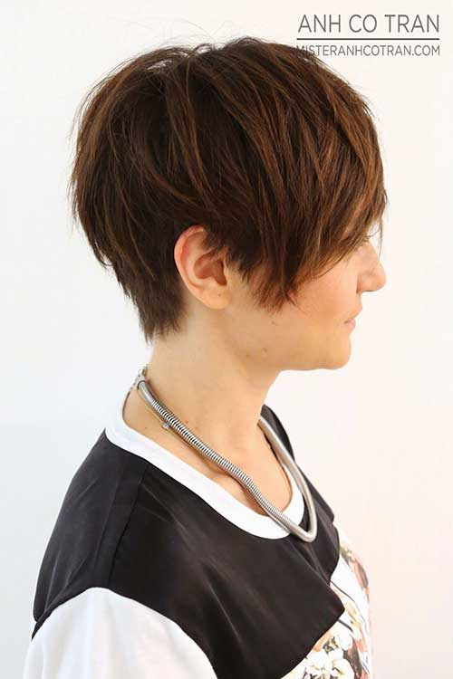 Trendy Long Pixie Hairstyles 2015