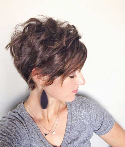 Best Wavy Thick Pixie Long Bangs