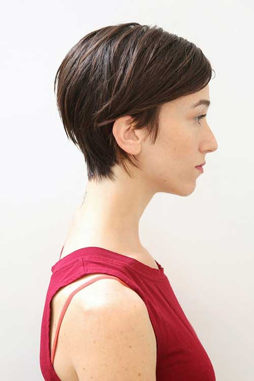 Womens Brown Hair Pixie Styles