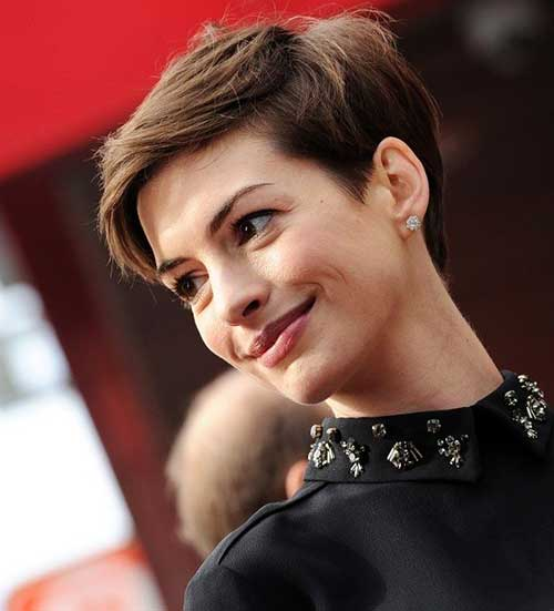 Anne Hathaway Best Pixie Hairstyle