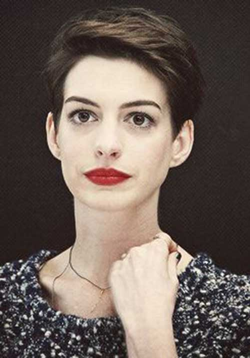 Anne Hathaway Short Hair Pixie Cuts