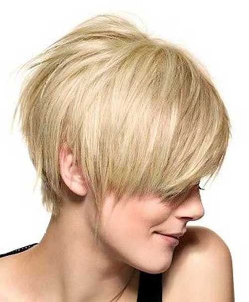 Asymmetrical Blonde Pixie Haircuts Oval Face