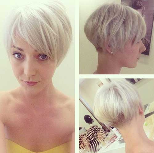 Blonde Hair Layered Pixie Cuts Styles