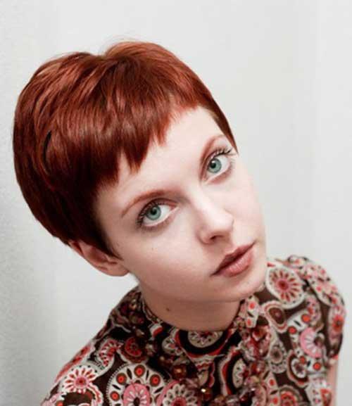 Casual Red Pixie Cut Hair