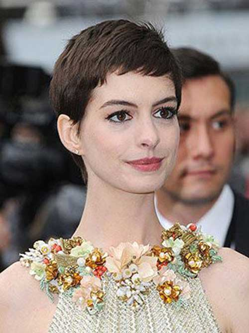 Celebrity Short Dark Pixie Cuts