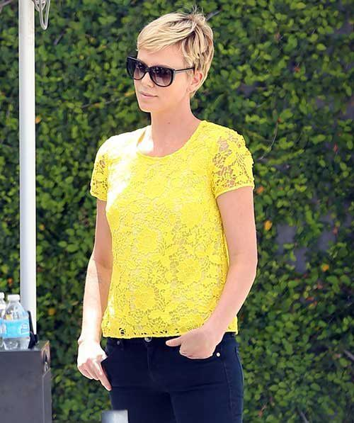 Charlize Theron Nice Short Pixie Cuts