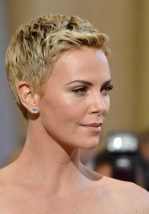 Charlize Theron Pixie Crop Hair
