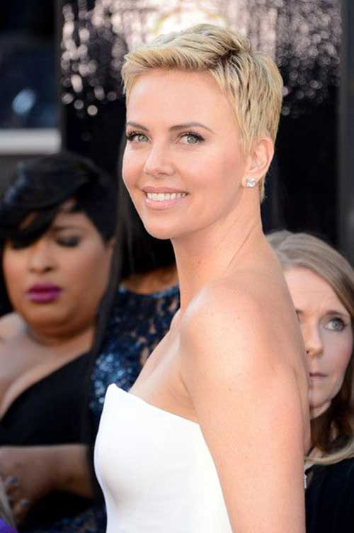 Charlize Theron Short Pixie Hair