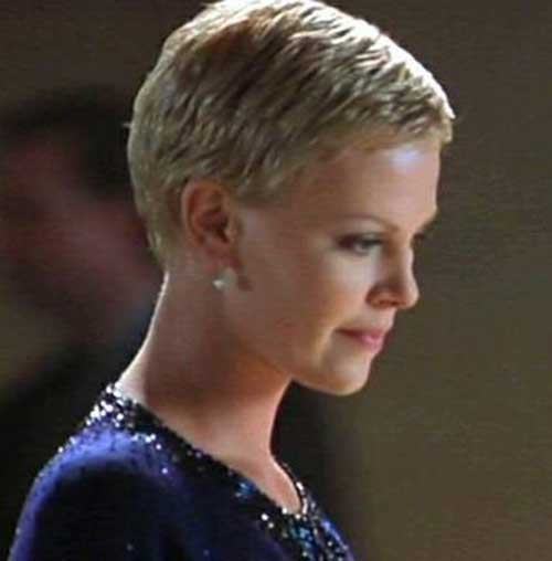 Best Charlize Theron Pixie Haircut