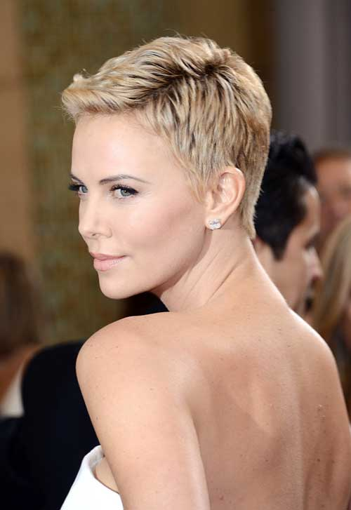Charlize Theron Short Hair Pixie Styles