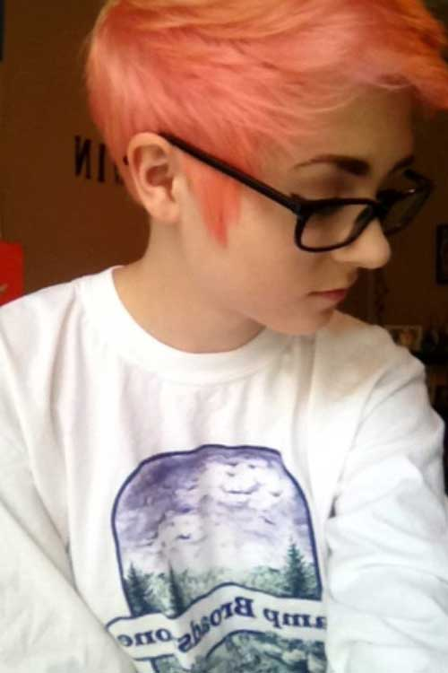 Cool Pink Short Pixie Haircuts