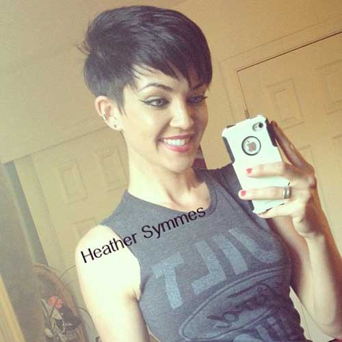 Cool Style Short Dark Pixie Hairstyles