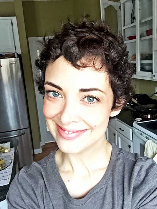 Cropped Curly Pixie Hairstyles