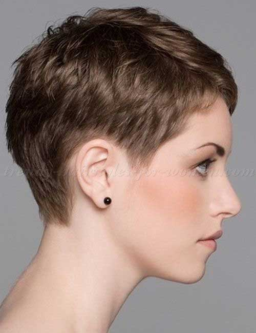 Cropped Pixie Cut Side View Look