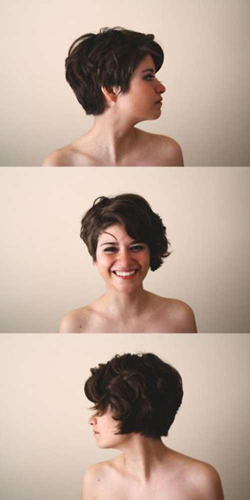 Cutest Wavy Pixie Hair Cut