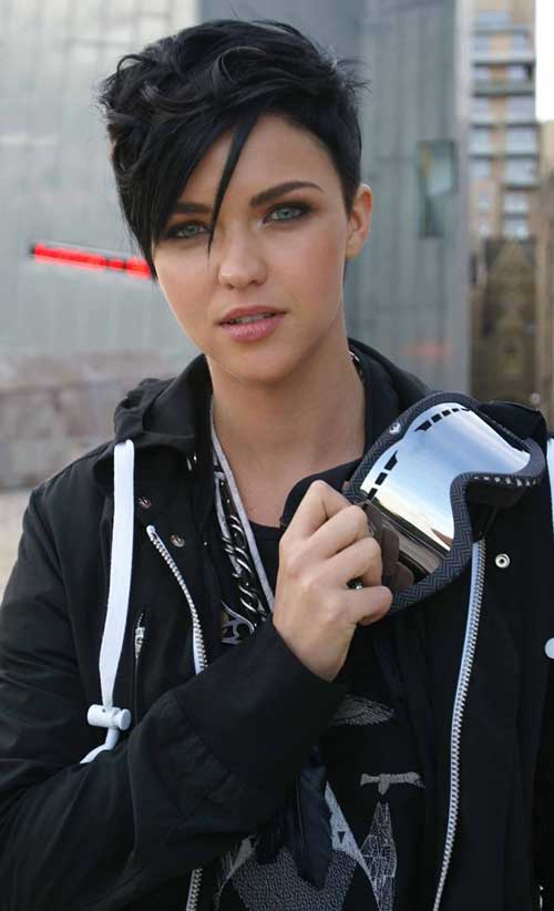 Best Dark Hair Pixie Cut