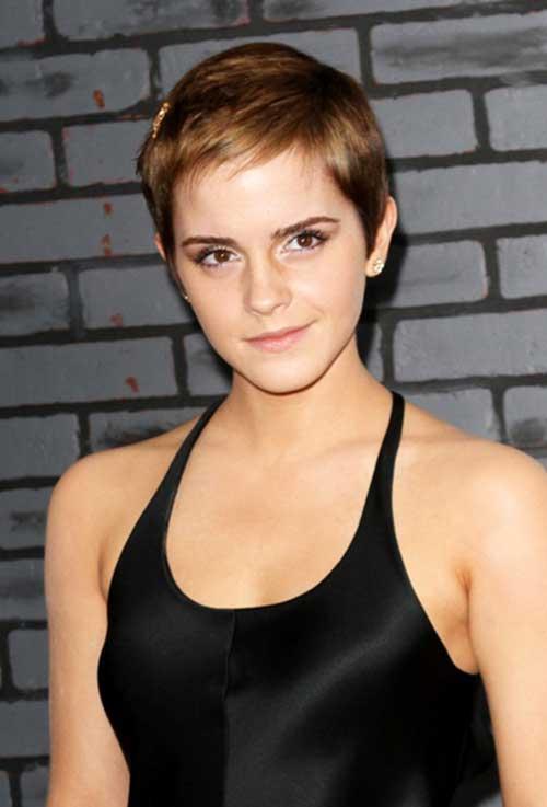 Emma Watson Fine Pixie Cut Hair