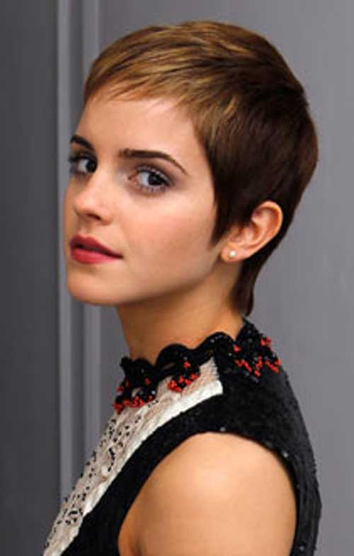 Emma Watson Pixie Cut Side View Look