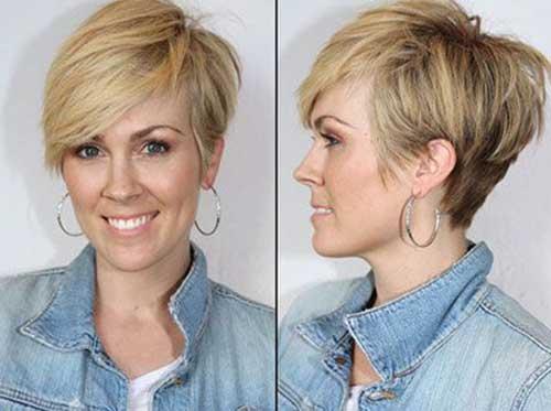 Fine Hair Pixie Cut Blonde Color