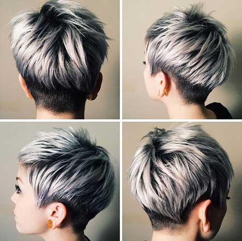 Silver Gray Pixie Haircuts