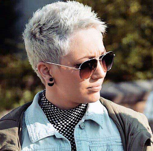 Grey Pixie Haircuts 2015