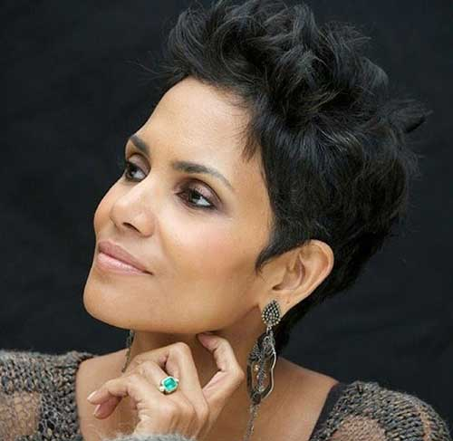 Halle Berry Best  Pixie Haircut