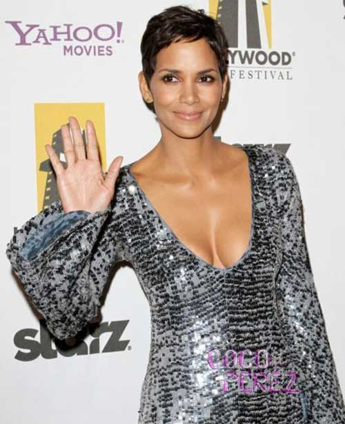 Halle Berry Short Classy Style Pixie Hair Cuts