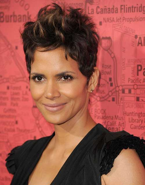 Halle Berry Short Pixie Haircut Ideas