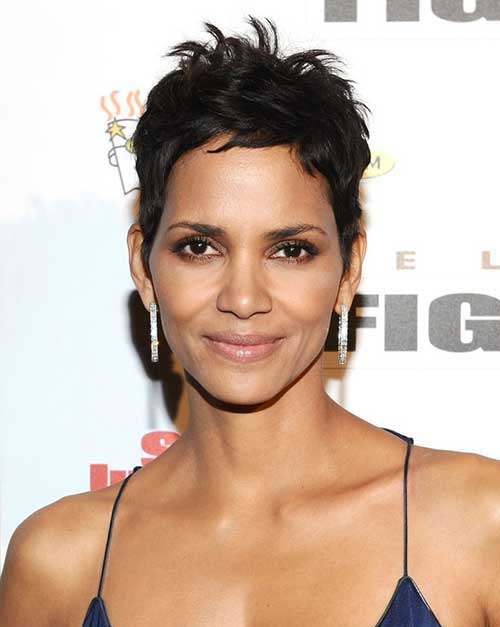 Halle Berry Spiky Pixie Cut Styles