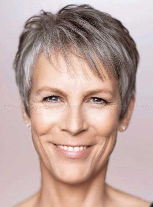 Jamie Lee Curtis Grey Pixie Hair