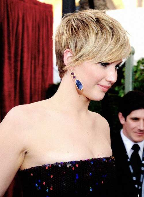 Jennifer Lawrence Layered Pixie Hair Styles