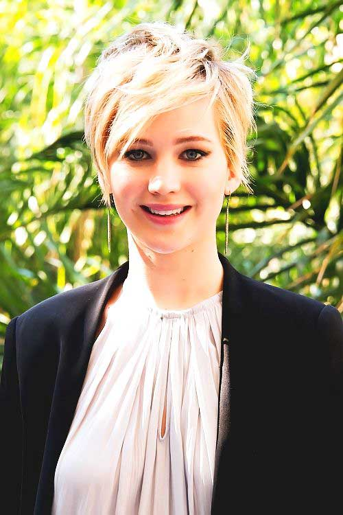 Jennifer Lawrence Long Soft Layered Pixie Hair