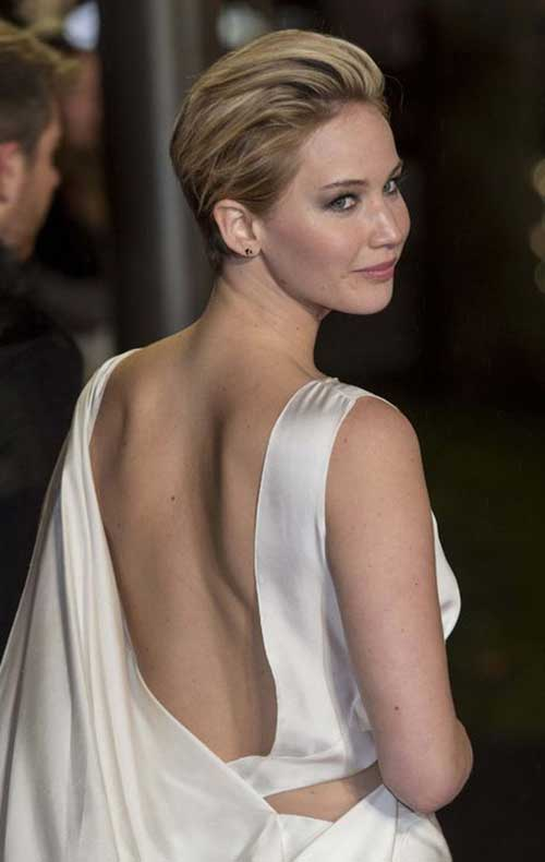 Asymmetrical Short Hair Back 25 Jennifer Lawrence P...