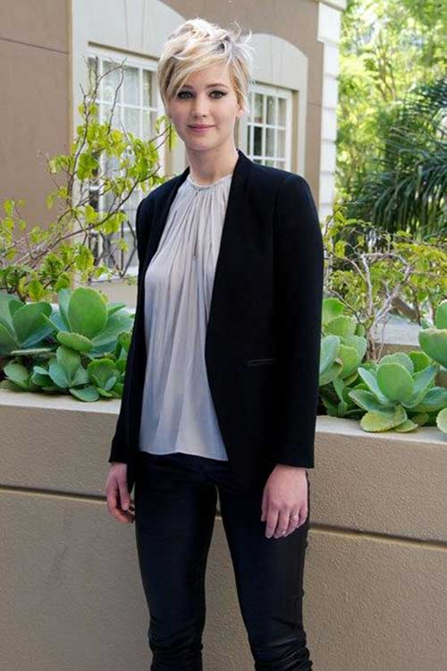 Jennifer Lawrence Platinum Blonde Pixie for Girls Styles