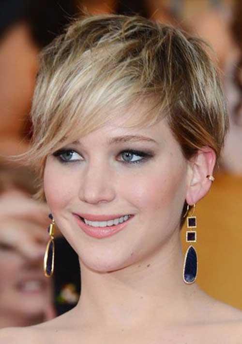 Jennifer Lawrence Short Blondie Pixie Haircuts