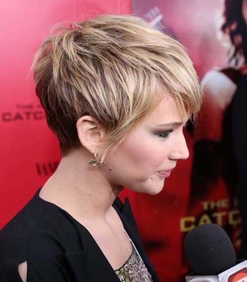Jennifer Lawrence Best Short Pixie Side View 2015