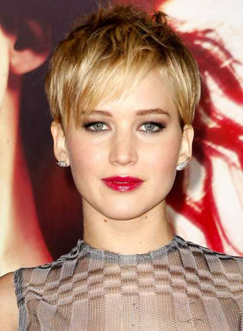 Jennifer Lawrence Straight Pixie Hair Cut