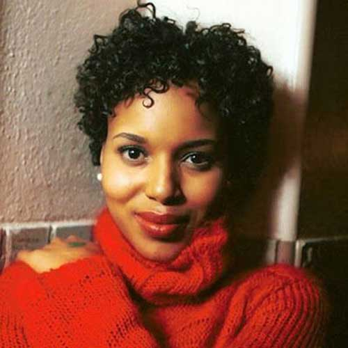 Kerry Washington Curly Pixie Hair