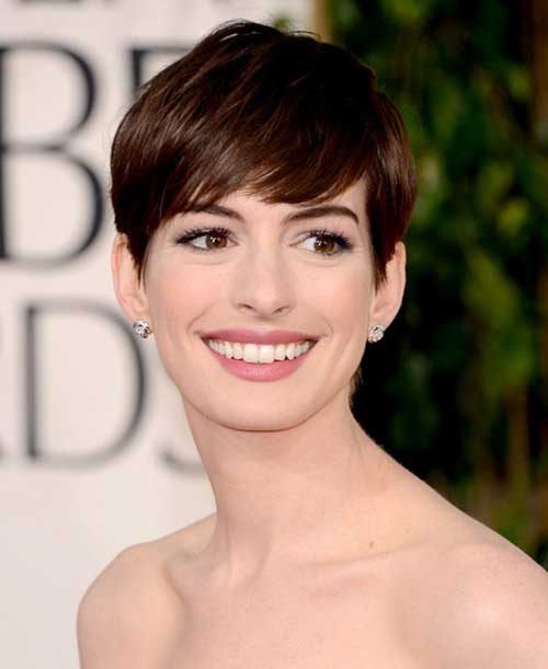 Layered Pixie Haircut Anne Hathaway
