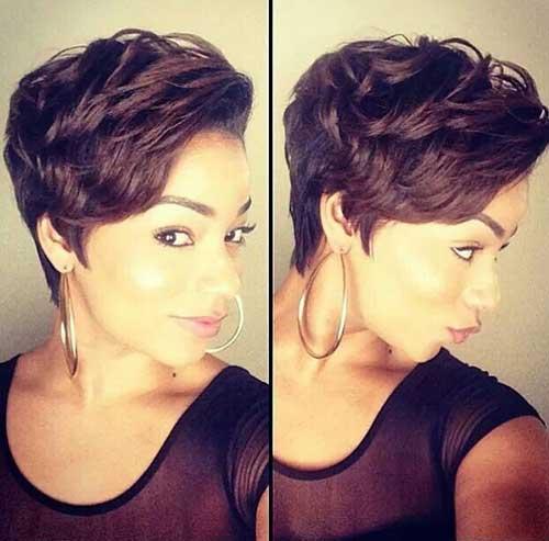 Long Dark Pixie Haircuts for Wavy Hair Cuts
