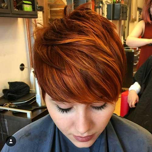 Longer Pixie Cut Red Hair