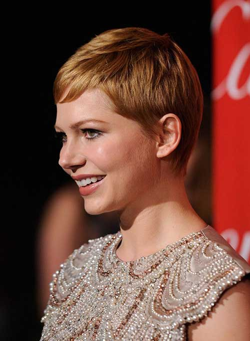 Michelle Williams Casual Pixie Haircuts