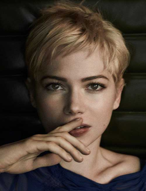 Michelle Williams Nice Pixie Hair