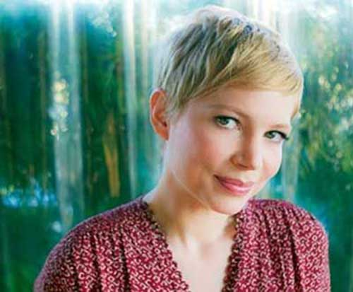Michelle Williams Pixie Straight Haircuts