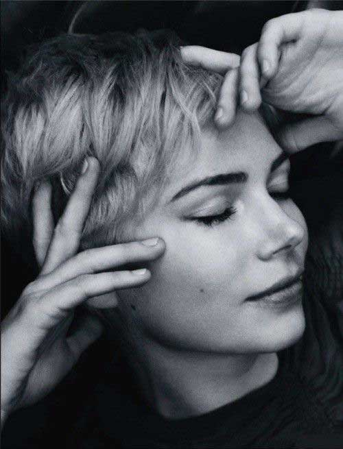 Michelle Williams Short Hair Pixie Cuts