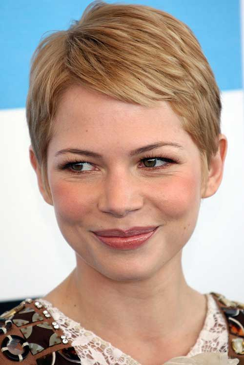 Michelle Williams Short Layered Fine Pixie Cut